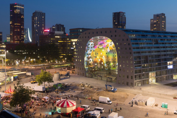 markthal housing market hall by mvrdv opencity projects. Black Bedroom Furniture Sets. Home Design Ideas